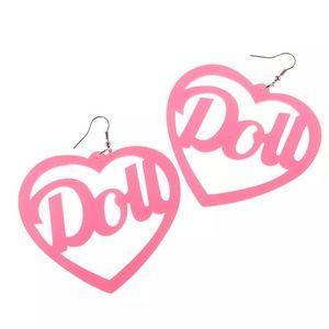 Pink Heart Earrings 💖